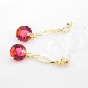 Color Stone Falling Resin Hall Earring