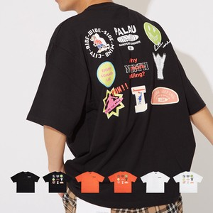 S/S Unisex Decoration Print Big Short Sleeve T-shirt