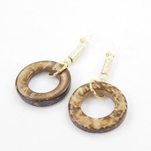Coconut Ring Falling Resin Hall Earring