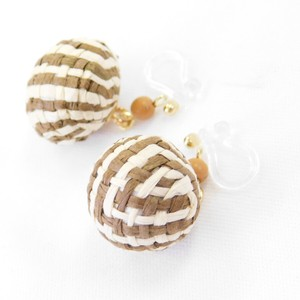 Natural Ball Resin Hall Earring