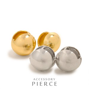 MAGGIO Mode Styling Metal Round Ball One touch Pierced Earring