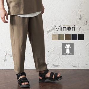 Material Ankle wide pants
