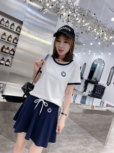 Short Sleeve T-shirt Short Skirt Student Sport Suits Band Suits