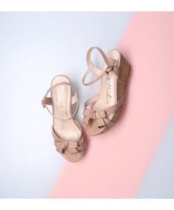 Enamel Ribbon Edge Sandal