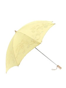 Embroidery Beach Parasol Folding Umbrella Floral Pattern Processing