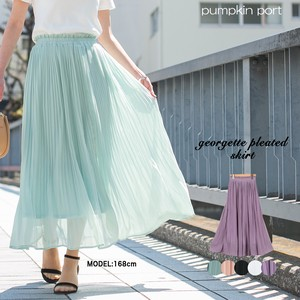 [ 2020NewItem ] Plain Elase Pleats Long Skirt