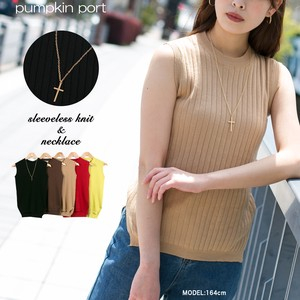 [ 2020NewItem ] Necklace Attached Petit High Neck Sleeveless Knitted