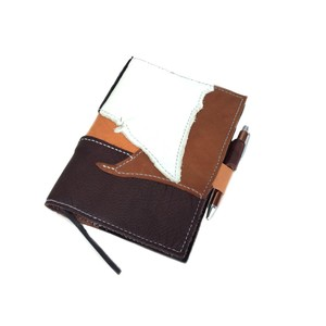 Lien Leather Patchwork Pocketbook Cover A5 size Hand Maid