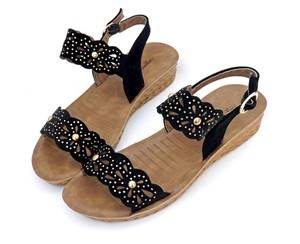 Sandal Heel Wedge Sole Studs Strap Sandal Larger