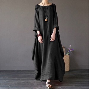 Ladies Linen One Piece Line Maxi Length