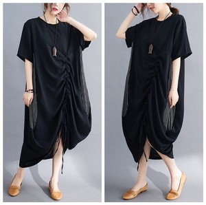 Ladies Irregularity Short Sleeve One-piece Dress