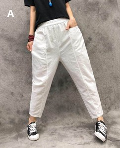 S/S Ladies Plain 9/10Length Pants 4 Colors