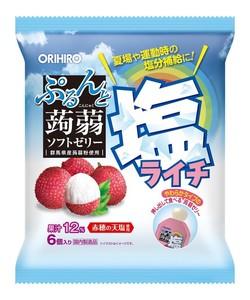 【期間限定】ぷるんと蒟蒻ゼリーパウチ 塩ライチ 6個