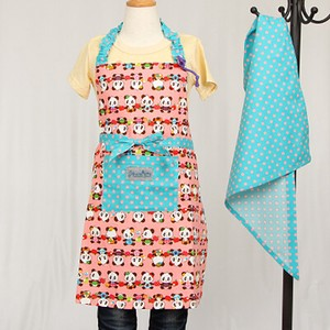 Apron Sling Width Attached Hand Maid nami Safety Panda Bear Pink