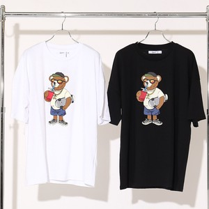 S/S Unisex Bear Print Big Short Sleeve T-shirt