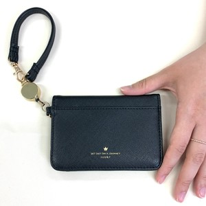 Synthetic Leather Attached Two Commuter Pass Holder Card Holder Card Case