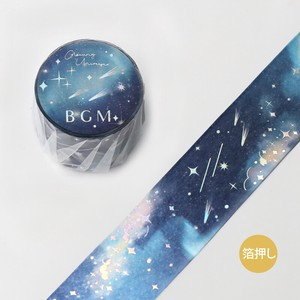 [BGM] Washi Tape  / Masking Tape Foil Stamping Space Galaxy