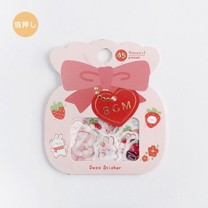 Flake SEAL Strawberry Rabbit Washi Tape Material