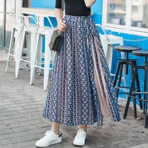 [ 2020NewItem ] Pleats Switching Long Skirt