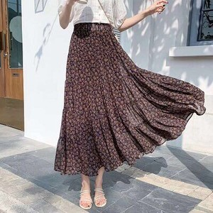 [ 2020NewItem ] Floral Pattern Long Skirt