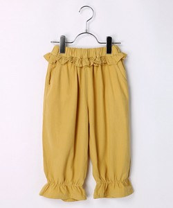 Waist Frill Three-Quarter Length Pants