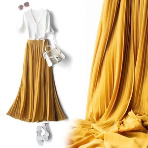 [ 2020NewItem ] Pleats Long Skirt