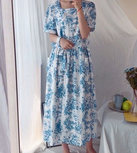 [ 2020NewItem ] Floral Pattern Print Long One-piece Dress