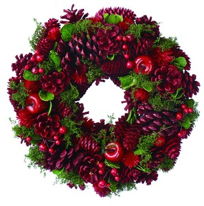 Wreath -Red Apple & Red Pine M