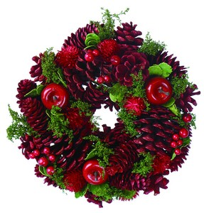 Wreath -Red Apple & Red Pine S