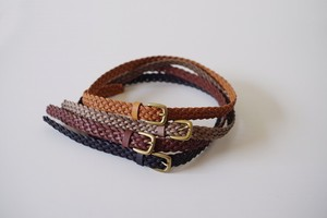 Leather Accessory Braided Belt