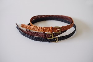 Leather Accessory Deformation Braided Belt
