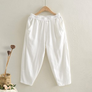 Ladies Plain Leisurely Three-Quarter Length Pants 4 Colors