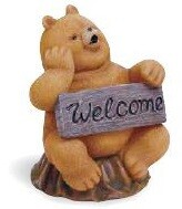Resin Bear Welcome