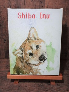 Canvas Art Shiba Dog Face Type Pet