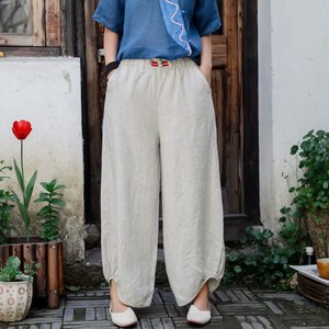 Ladies Plain Irregularity Pants 6 Colors