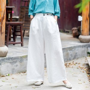 Ladies Embroidery Plain Pants 6 Colors