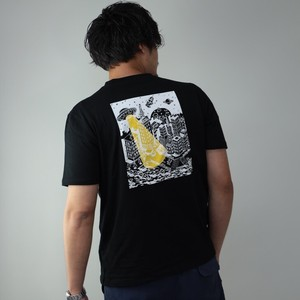 T-shirt Men's Short Sleeve Print Character Illustration Bag Print Cut And Sewn Top