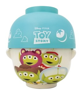 Disney Toy Story Soup Bowl Japanese Rice Bowl Set Alien Mix