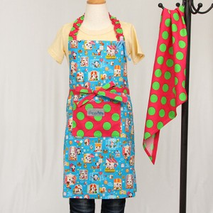 Apron Sling Width Attached Hand Maid nami Safety Panda Bear Sky Blue
