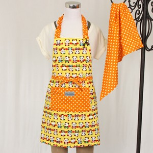 Apron Sling Width Attached Hand Maid nami Safety Panda Bear Yellow