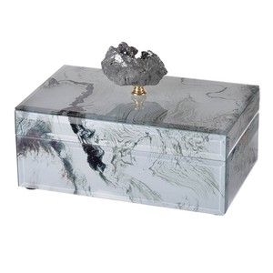 Glass Box White Marble Lecht