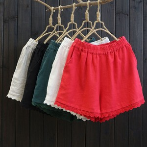Ladies Fashion Linen High-waisted Shorts