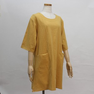 Free Size Plain Attached Roll Neck Tunic T-shirt