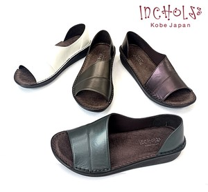Genuine Leather Metallic Material Open Sandal