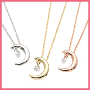 Cubic Crescent Moon Necklace