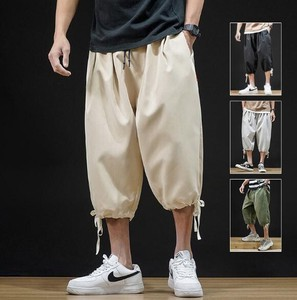 Men's Leisurely Three-Quarter Length Casual Pants 4 Colors