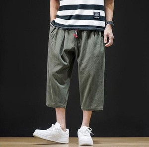 Men's Plain Three-Quarter Length Casual Pants 3 Colors