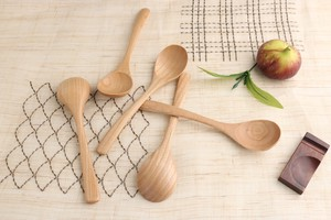 Flower Word Happiness Fine Quality Wood Grain Natural Characteristic Dark Red Soup Spoon