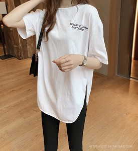 Letter Print Short Sleeve T-shirt Ladies Loose Shirt Short Sleeve Shirt Shirt
