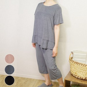 """2020 New Item"" Pile Short Sleeve Cropped Pants Set Loungewear"